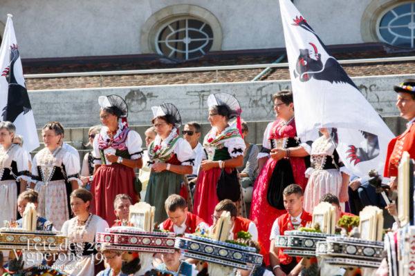 Journée cantonale, préparation du cortège des cantons d'Appenzell au collège Kratzer