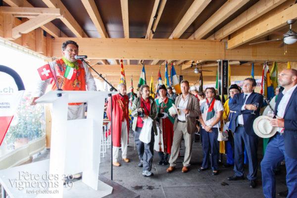 Journée cantonale, accueil et défilé des autorités du Canton de Neuchatel