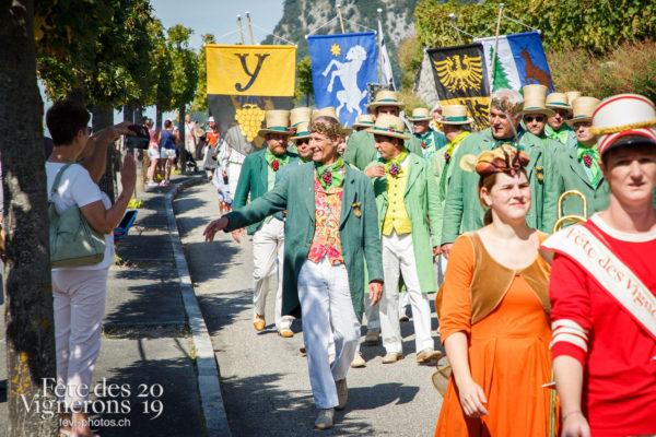 Récéption Aigle-Yvorne - fanfares, reception-aigle-yvorne, Vignerons couronnés, Vignerons primés, Photographies de la Fête des Vignerons 2019.