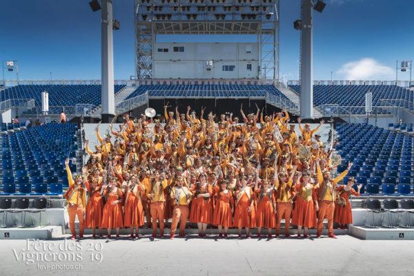 Groupe Harmonie - groupe, Harmonie de la Fête, Musiciens de la Fête, Musiciens harmonie, Photographies de la Fête des Vignerons 2019.
