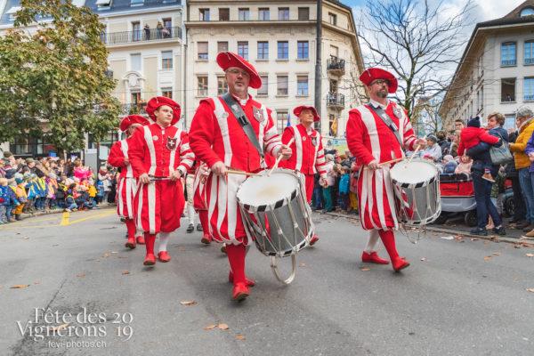 Saint-Martin - Cortège, Fifres & tambours de Bâle, Musiciens de la Fête, Saint-Martin, Photographies de la Fête des Vignerons 2019.