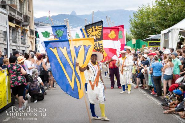 Journée cantonale, Vaud - Journée cantonale Vaud, Journées cantonales, Porteurs drapeaux, Vaud, Photographies de la Fête des Vignerons 2019.